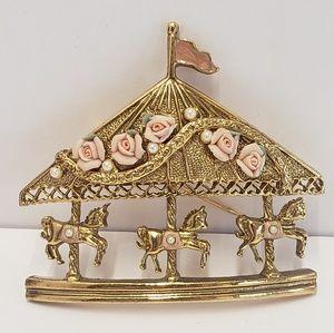 Vintage Flower Carousel Brooch